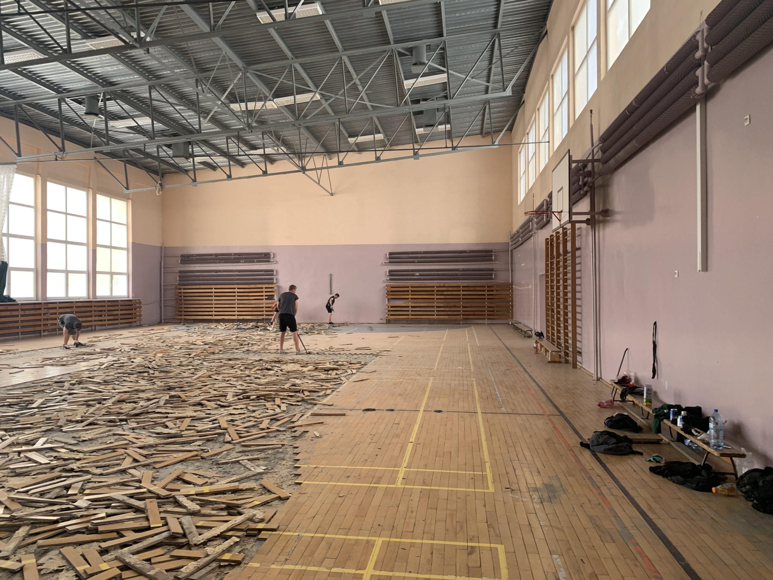 Remont sali gimnastycznej Sp. 30 Olsztyn